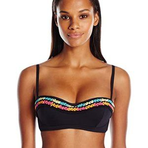 NWOT Coco Rave crochet black bikini demi top